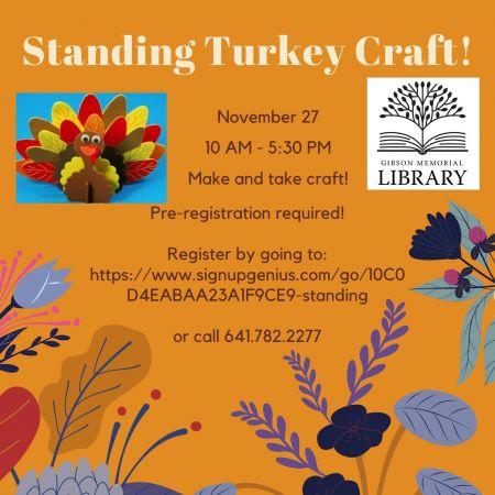 Standing Turkey Craft!